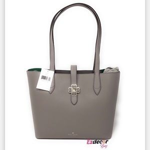 NWT Kate Spade Kaci Small Leather Tote Gray